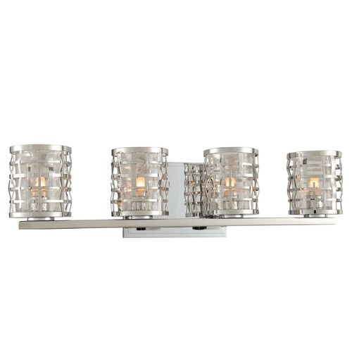 Kalco Lighting Kalco Lighting Bridgeport Brushed Stainless Steel Bathroom Light 308734SL