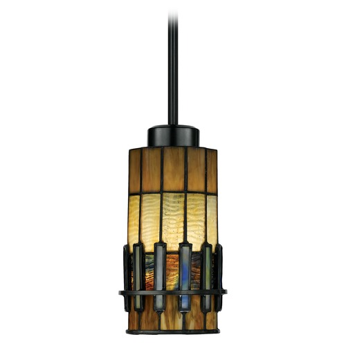 Quoizel Lighting Mini-Pendant Light with Art Glass TF489P01VB
