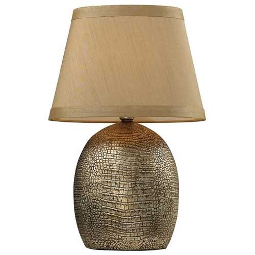 Elk Lighting Table Lamp with Beige / Cream Shade in Meknes Bronze Finish D2222