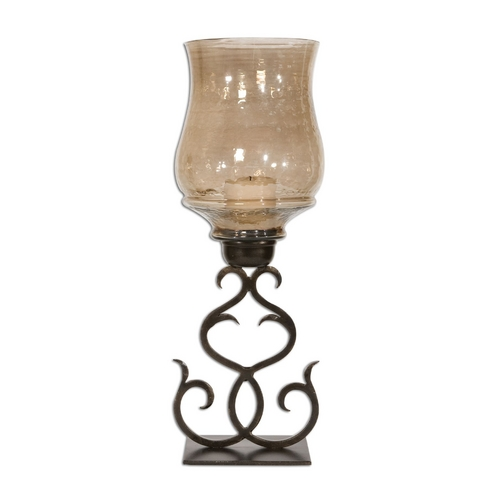 Uttermost Lighting Candle Holder in Antique Bronze Finish 19562