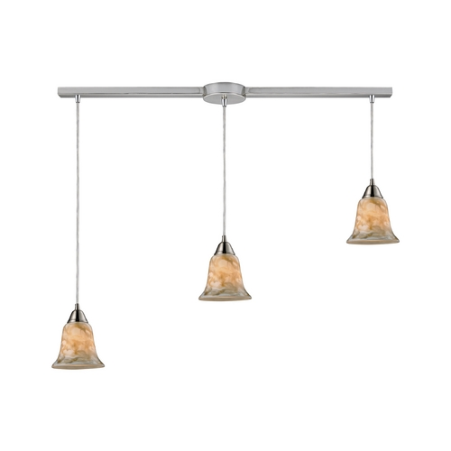 Elk Lighting Modern Multi-Light Pendant Light with Multi-Color Glass and 3-Lights 31130/3L-NG
