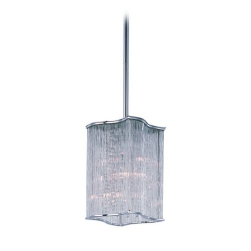 Maxim Lighting Modern Mini-Pendant Light with Clear Glass 91700CLPC