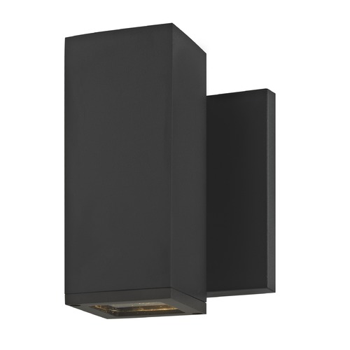 Design Classics Lighting LED Black Outside Wall Light Square Cylinder 3000K 1773-07 S9383 LED 3000K