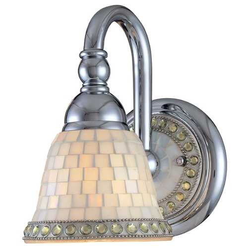 Minka Lighting Chrome Wall Sconce with Mosaic Glass 6051-77