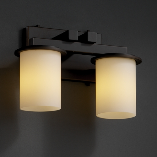 Justice Design Group Justice Design Group Fusion Collection Bathroom Light FSN-8772-10-OPAL-DBRZ