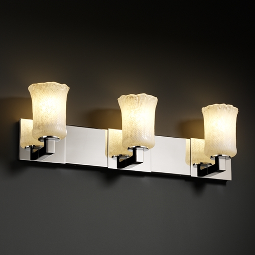 Justice Design Group Justice Design Group Veneto Luce Collection Bathroom Light GLA-8923-16-WHTW-CROM