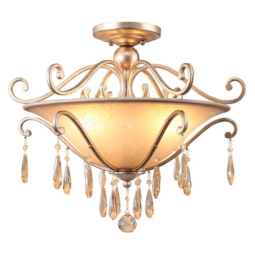 Crystorama Lighting Crystorama Lighting Shelby Distressed Twilight Semi-Flushmount Light 7525-DT