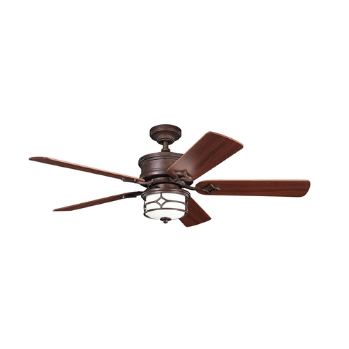 Kichler Lighting Kichler Lighting Chicago Tannery Bronze W/ Gold Accent Ceiling Fan with Light 300001TZG