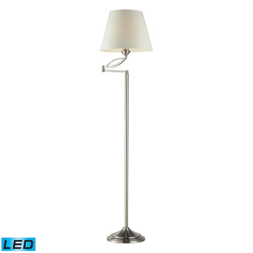 Dimond Lighting Dimond Lighting Satin Nickel LED Swing Arm Lamp with Empire Shade 17047/1-LED
