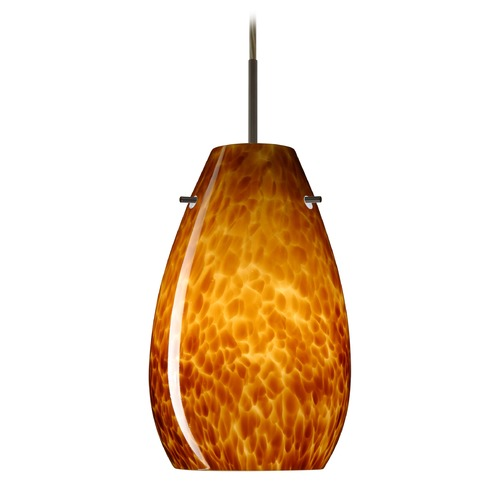 Besa Lighting Besa Lighting Pera Bronze LED Mini-Pendant Light 1JT-412618-LED-BR