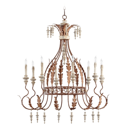 Quorum Lighting Quorum Lighting La Maison Manchester Grey W/ Rust Accents Chandelier 6252-8-56