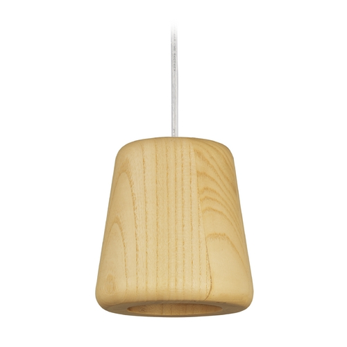 ET2 Lighting Arhaus Natural Wood LED Mini-Pendant Light with Empire Shade E20751-NWD