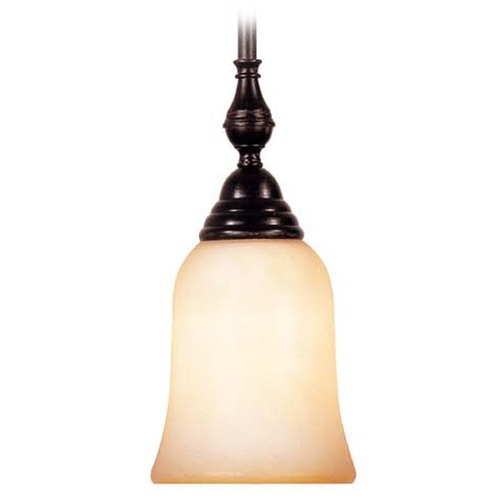Savoy House Savoy House English Bronze Mini-Pendant Light with Bell Shade 7-1710-1-13