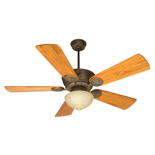 Craftmade Lighting Craftmade Lighting Chaparral Aged Bronze Textured Ceiling Fan with Light K11164