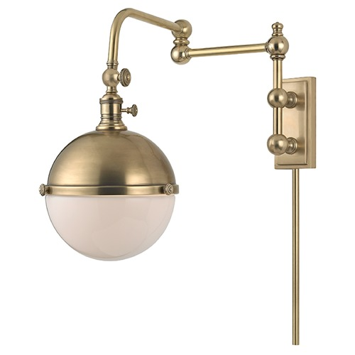 Hudson Valley Lighting Stanley 1 Light Swing Arm Lamp - Aged Brass 1672-AGB