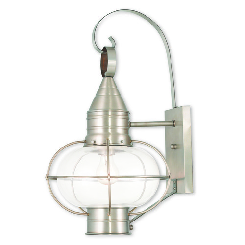 Livex Lighting Livex Lighting Newburyport Brushed Nickel Outdoor Wall Light 26904-91