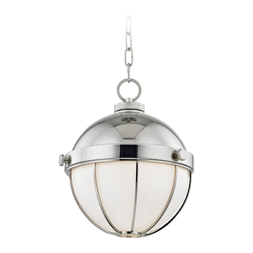Hudson Valley Lighting Hudson Valley Lighting Sumner Polished Nickel Pendant Light with Bowl / Dome Shade 2312-PN
