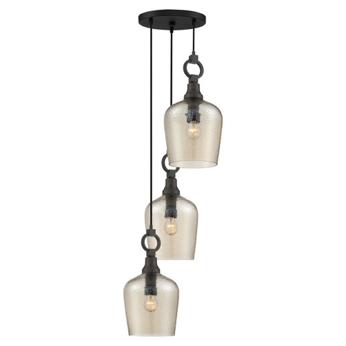 Quoizel Lighting Quoizel Lighting Kendrick 3-Light Western Bronze Large Multi-Light Round Pendant CKKD2717WT
