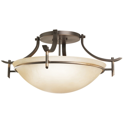 Kichler Lighting Kichler Modern Semi-Flushmount Light in Bronze Finish 3606OZ
