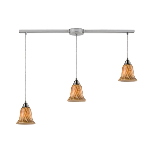 Elk Lighting Modern Multi-Light Pendant Light with Multi-Color Glass and 3-Lights 31130/3L-TF