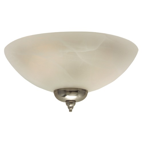 Craftmade Lighting Light Kit with Alabaster Glass Shade in Brushed Nickel Finish LK215CFL