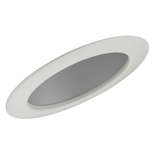 Recesso Lighting by Dolan Designs Satin Sloped Reflector Trim for 6-Inch Recessed Cans T660S-WH