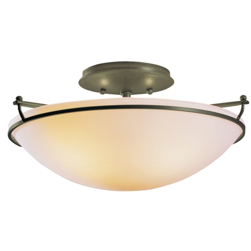 Hubbardton Forge Lighting Two-Light Semi-Flush Ceiling Light 124302-20-G47