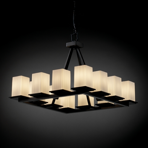 Justice Design Group Justice Design Group Fusion Collection Chandelier FSN-8668-15-RBON-MBLK
