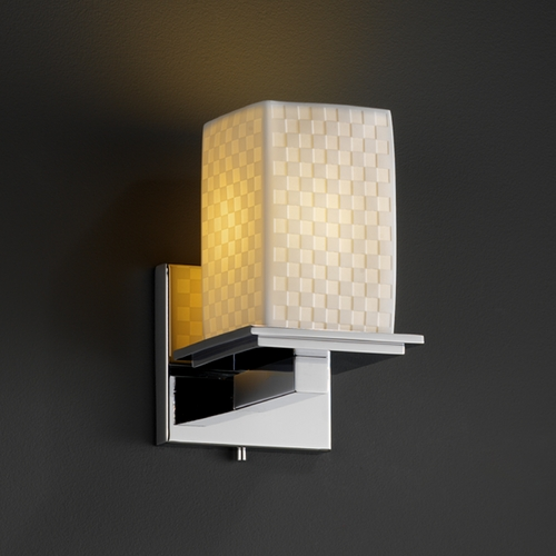 Justice Design Group Justice Design Group Limoges Collection Sconce POR-8671-15-CHKR-CROM