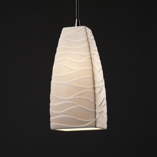 Justice Design Group Justice Design Group Limoges Collection Mini-Pendant Light POR-8816-65-WAVE-NCKL