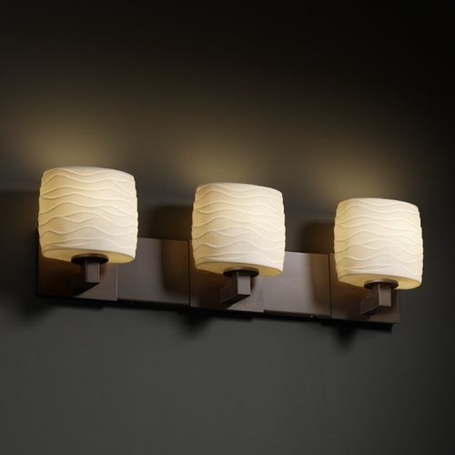 Justice Design Group Justice Design Group Limoges Collection Bathroom Light POR-8923-30-WAVE-DBRZ