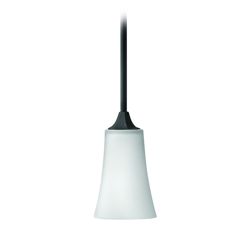 Hinkley Lighting Mini-Pendant Light with White Glass 4637TB