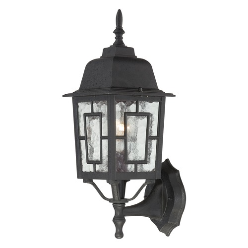Nuvo Lighting Outdoor Wall Light with Clear Glass in Textured Black Finish 60/4926