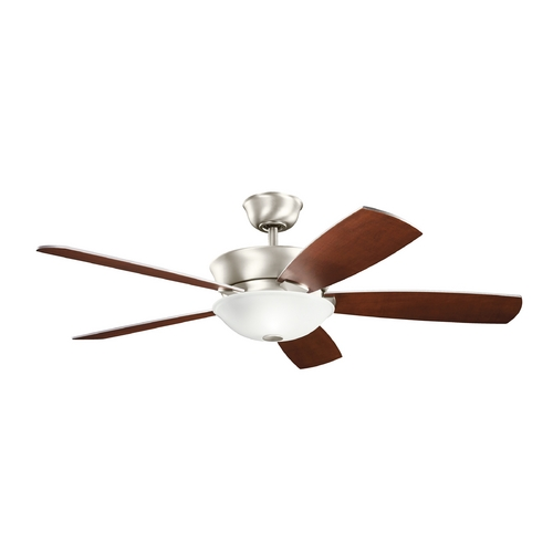 Kichler Lighting Kichler Lighting Skye Brushed Nickel Ceiling Fan with Light 300167NI