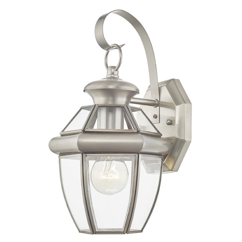 Livex Lighting Livex Lighting Monterey Brushed Nickel Outdoor Wall Light 2051-91