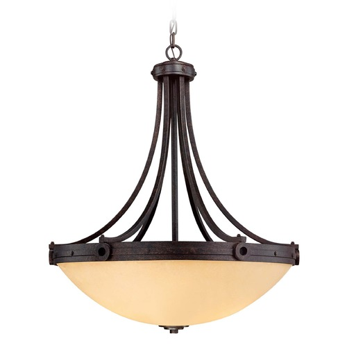 Savoy House Savoy House Oiled Copper Pendant Light with Bowl / Dome Shade 7-2016-4-05