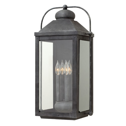 Hinkley Lighting Hinkley Lighting Anchorage Aged Zinc Outdoor Wall Light 1858DZ