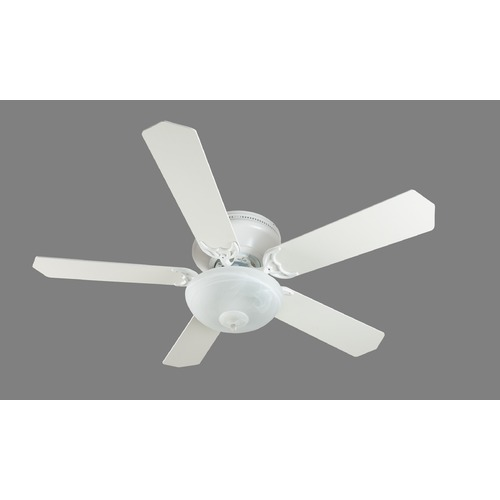 Craftmade Lighting Craftmade Lighting Pro Contemporary Flushmount White Ceiling Fan with Light K11165