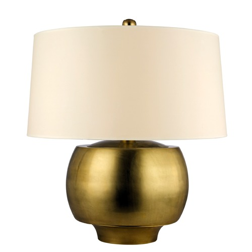 Hudson Valley Lighting Hudson Valley Lighting Holden Aged Brass Table Lamp with Drum Shade L166-AGB-WS