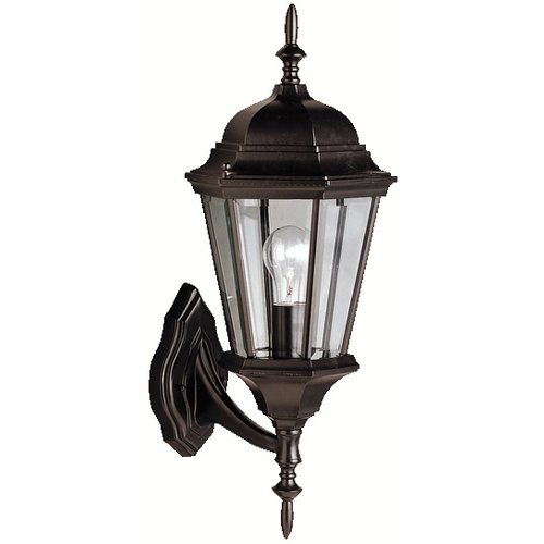 Kichler Lighting Kichler Outdoor Wall Light with Clear Glass in Black Finish 9653BK