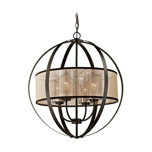 Elk Lighting Elk Lighting Diffusion Oil Rubbed Bronze Pendant Light with Drum Shade 57029/4