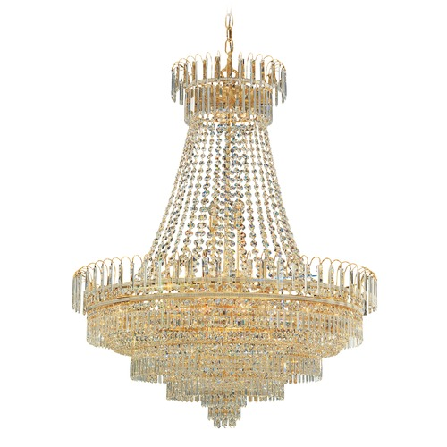 Crystorama Lighting Crystorama Lighting Hot Deal Gold Crystal Chandelier 1403-GD-CL-MWP