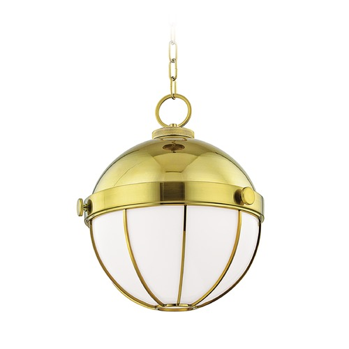 Hudson Valley Lighting Hudson Valley Lighting Sumner Modern Brass Pendant Light with Bowl / Dome Shade 2315-MB