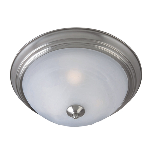 Maxim Lighting Flushmount Light with White Glass in Satin Nickel Finish 85842MRSN