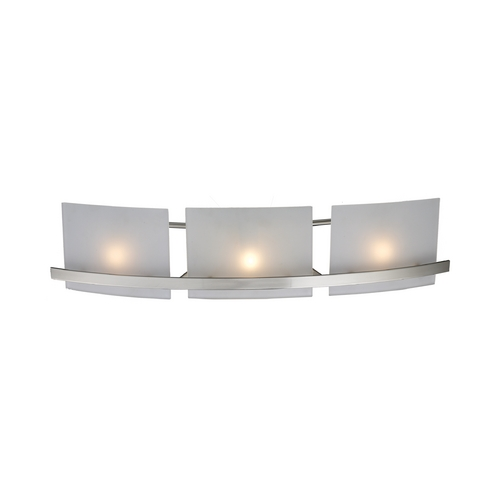 Elk Lighting Modern Bathroom Light with White Glass in Satin Nickel Finish 11282/3