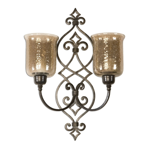 Uttermost Lighting Candle Holder in Antique Bronze Finish 19564