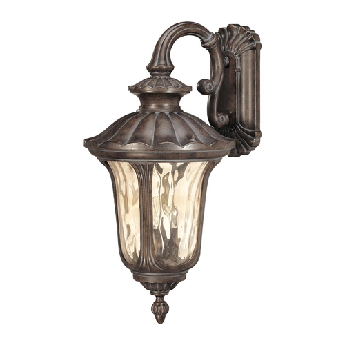 Nuvo Lighting Outdoor Wall Light with Amber Glass in Fruitwood Finish 60/2002