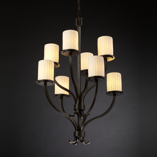 Justice Design Group Justice Design Group Limoges Collection Chandelier POR-8788-10-WFAL-DBRZ