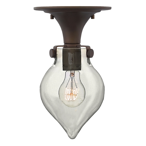 Hinkley Lighting Semi-Flushmount Light with Clear Glass in Oil Rubbed Bronze Finish 3151OZ