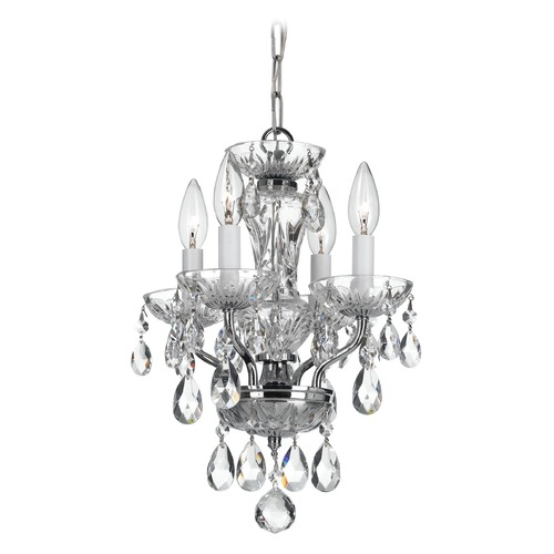 Crystorama Lighting Crystorama Lighting Traditional Crystal Chrome Chandelier 5534-CH-CL-MWP